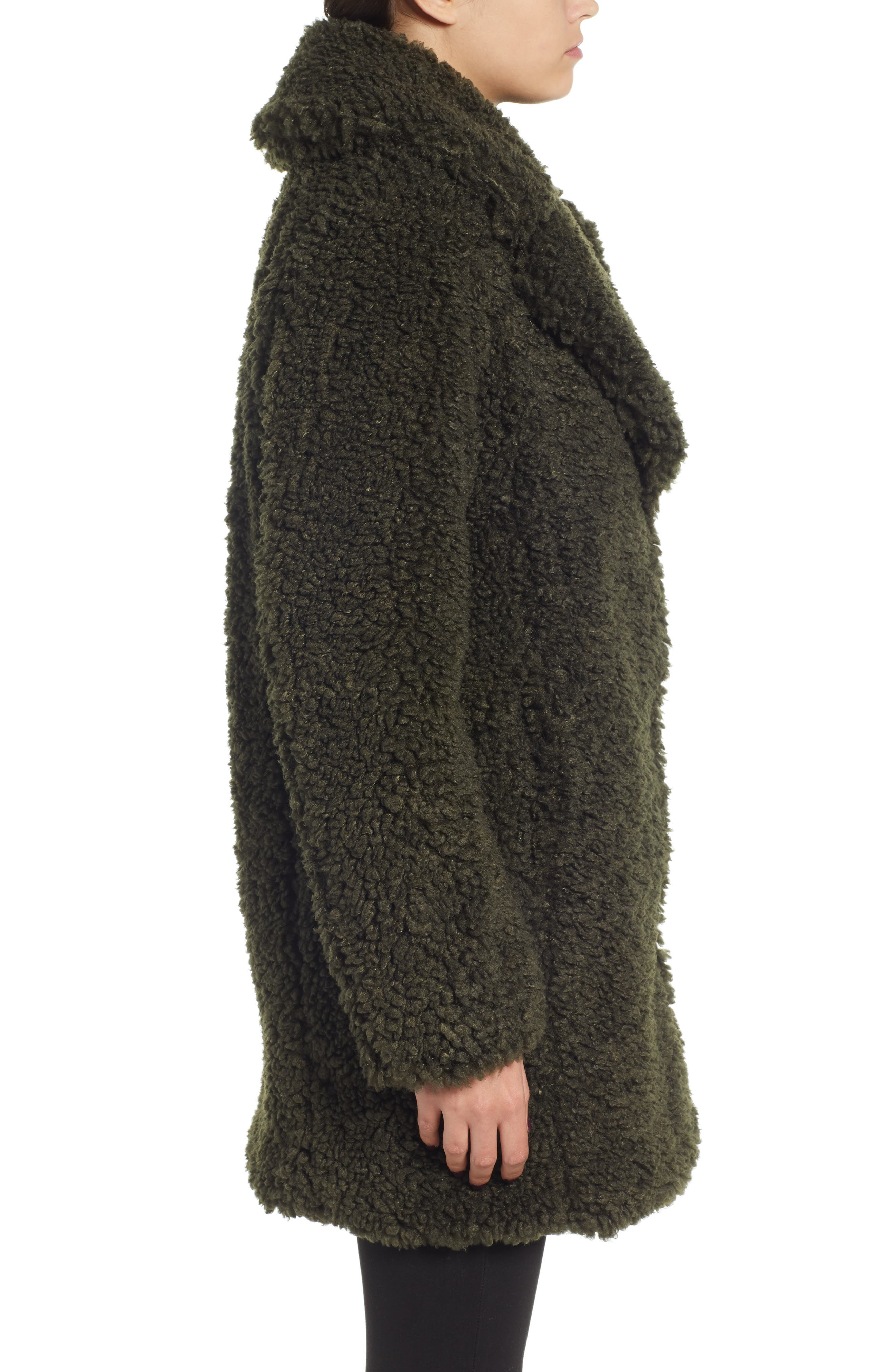 ,                             Faux Shearling Coat,                             Alternate thumbnail 4, color,                             300