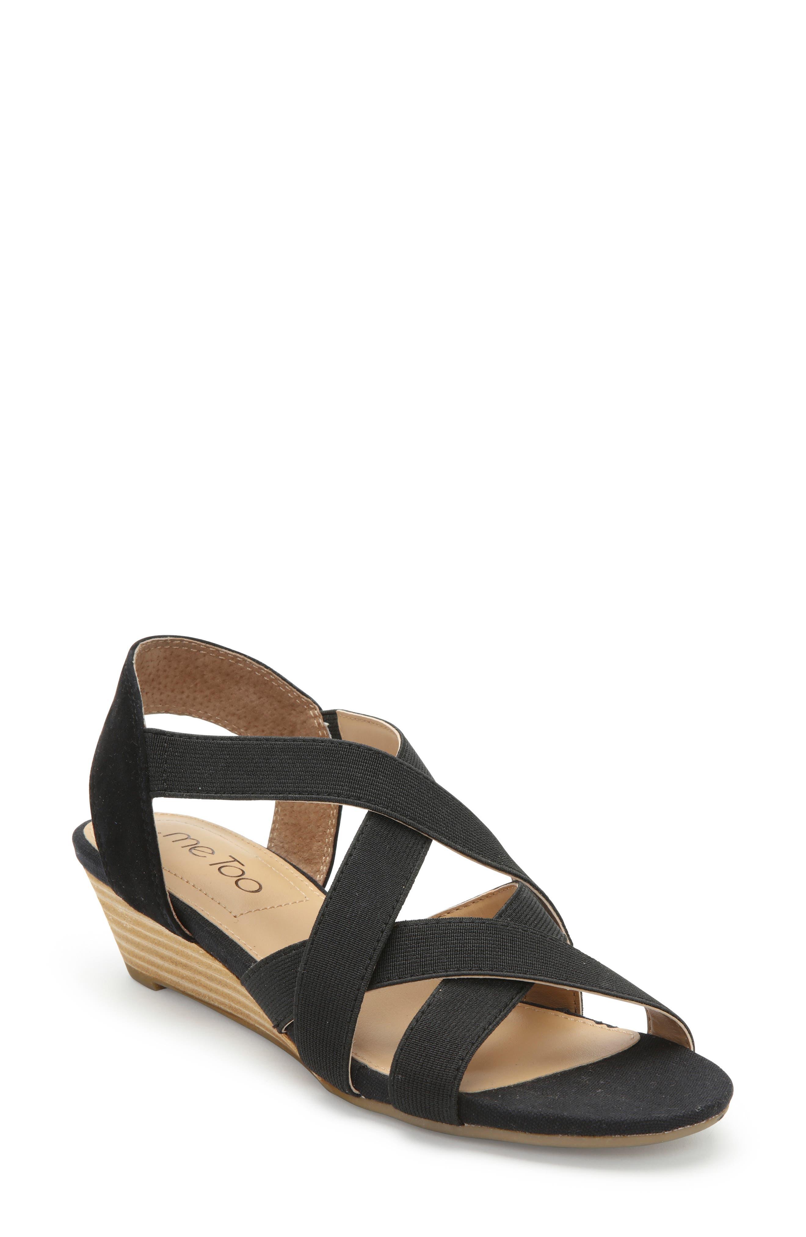 Me Too Saffron Wedge Sandal- Black