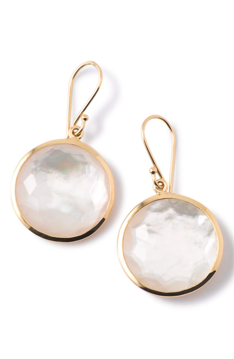 IPPOLITA Rock Candy Lollipop Drop Earrings, Main, color, GOLD/ PEARL