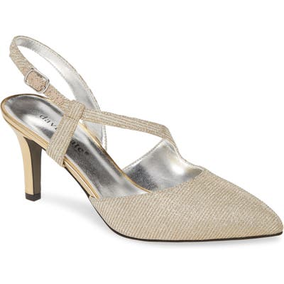 David Tate Lucia Glitter Pump, Metallic