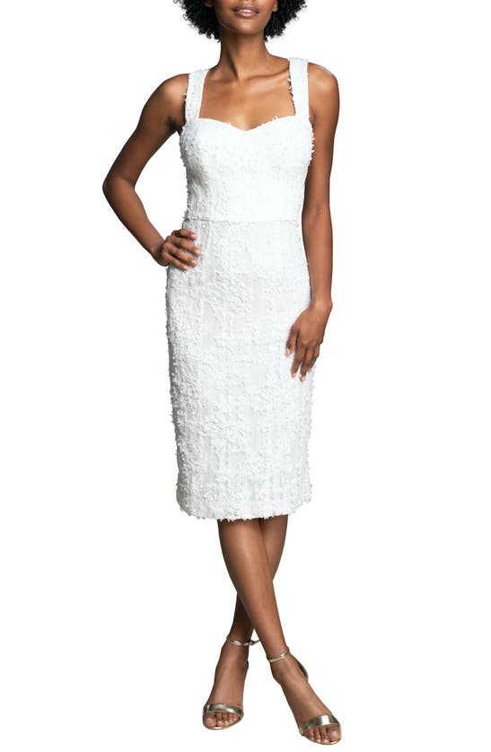 Dress The Population NICOLE SWEETHEART NECK BODY-CON COCKTAIL DRESS