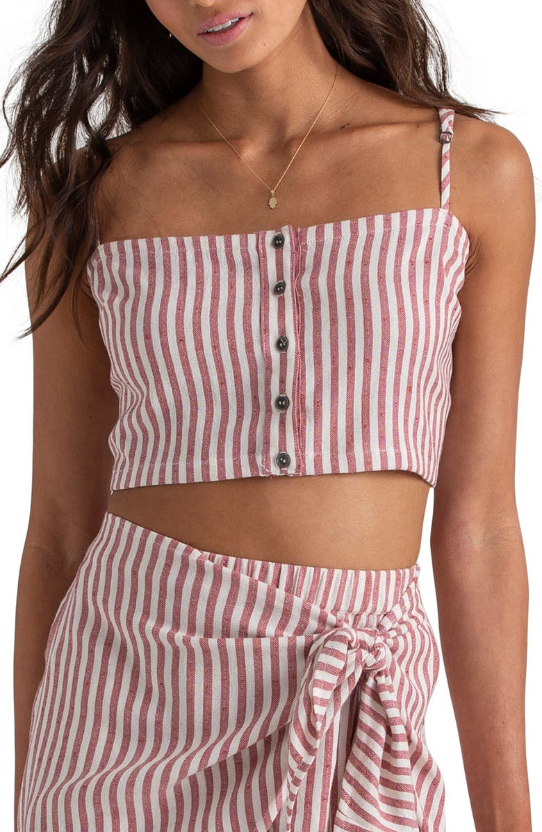 BILLABONG x Sincerely Jules Straight to It Crop Top, Main, color, 950
