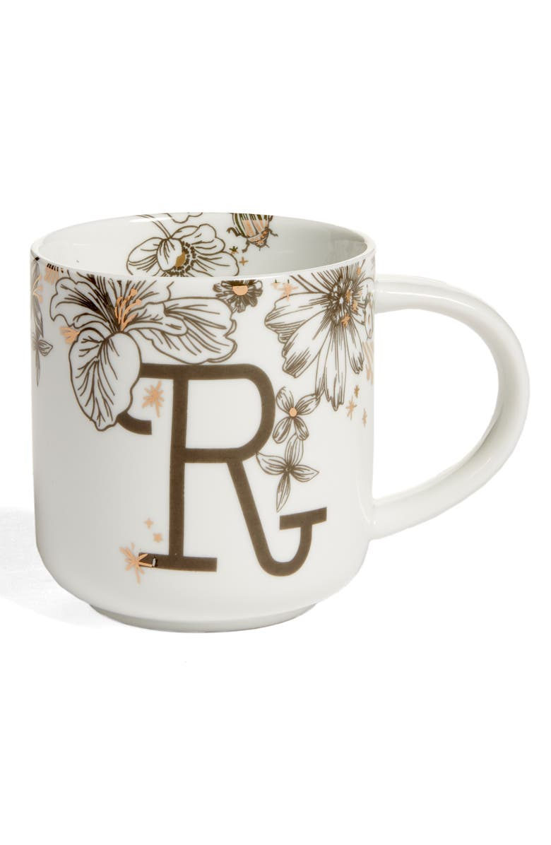 NORDSTROM at Home Floral Monogram Mug, Main, color, 117