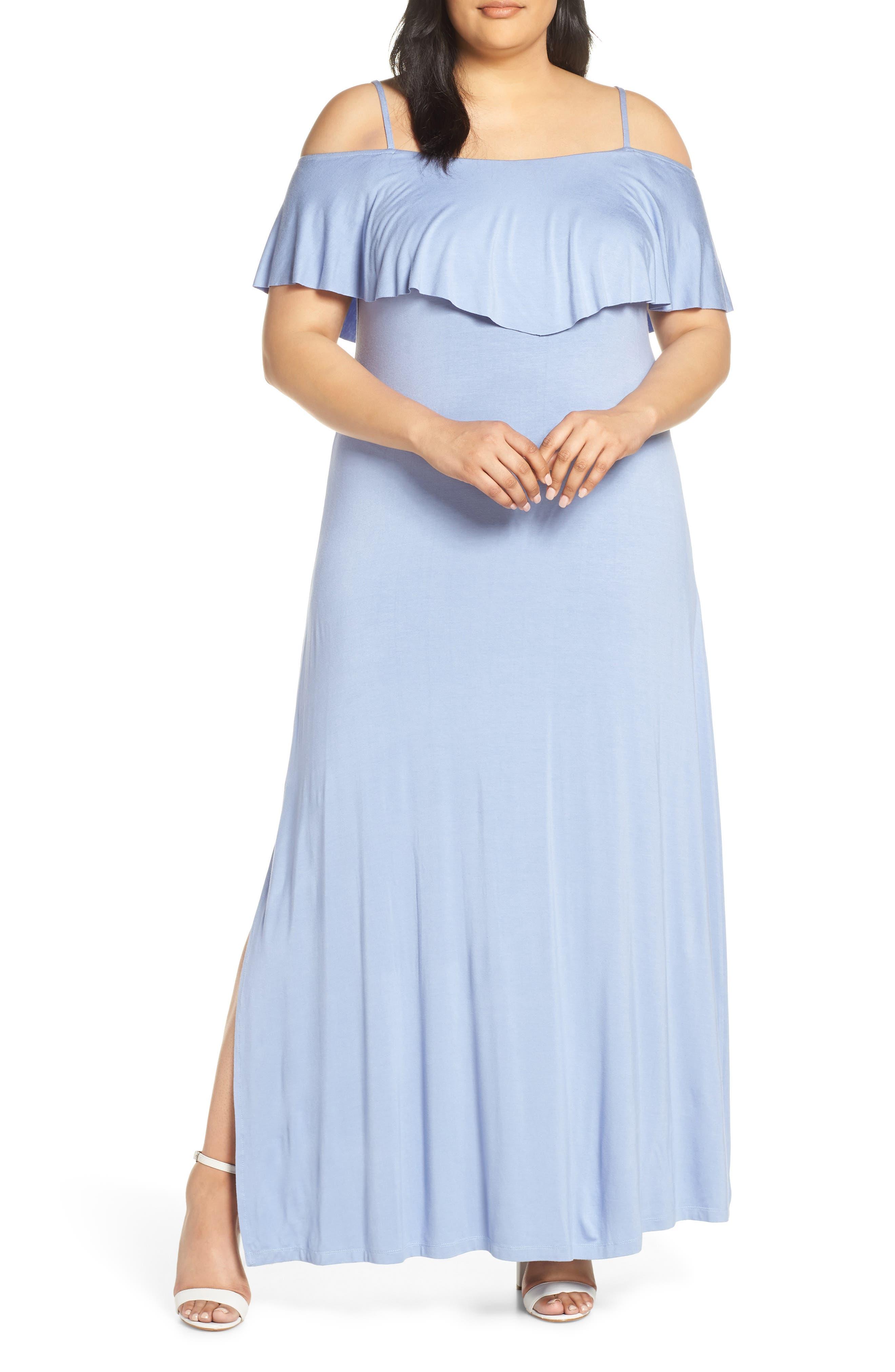 Plus Size Lemon Tart Tacita Maxi Dress, Blue