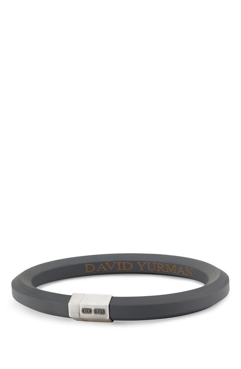 DAVID YURMAN Streamline Rubber ID Bracelet in Black, Main, color, 020
