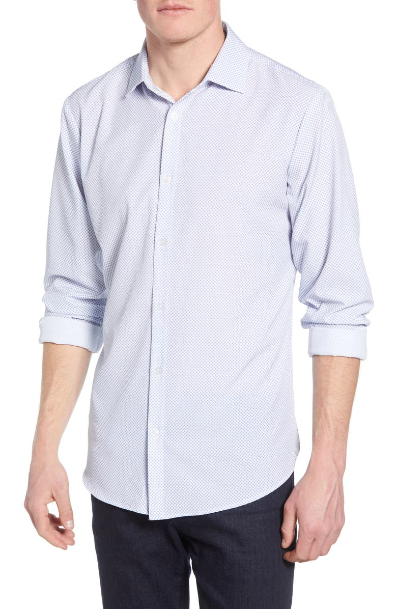 Chandler Trim Fit Print Performance Sport Shirt by Mizzen+Main