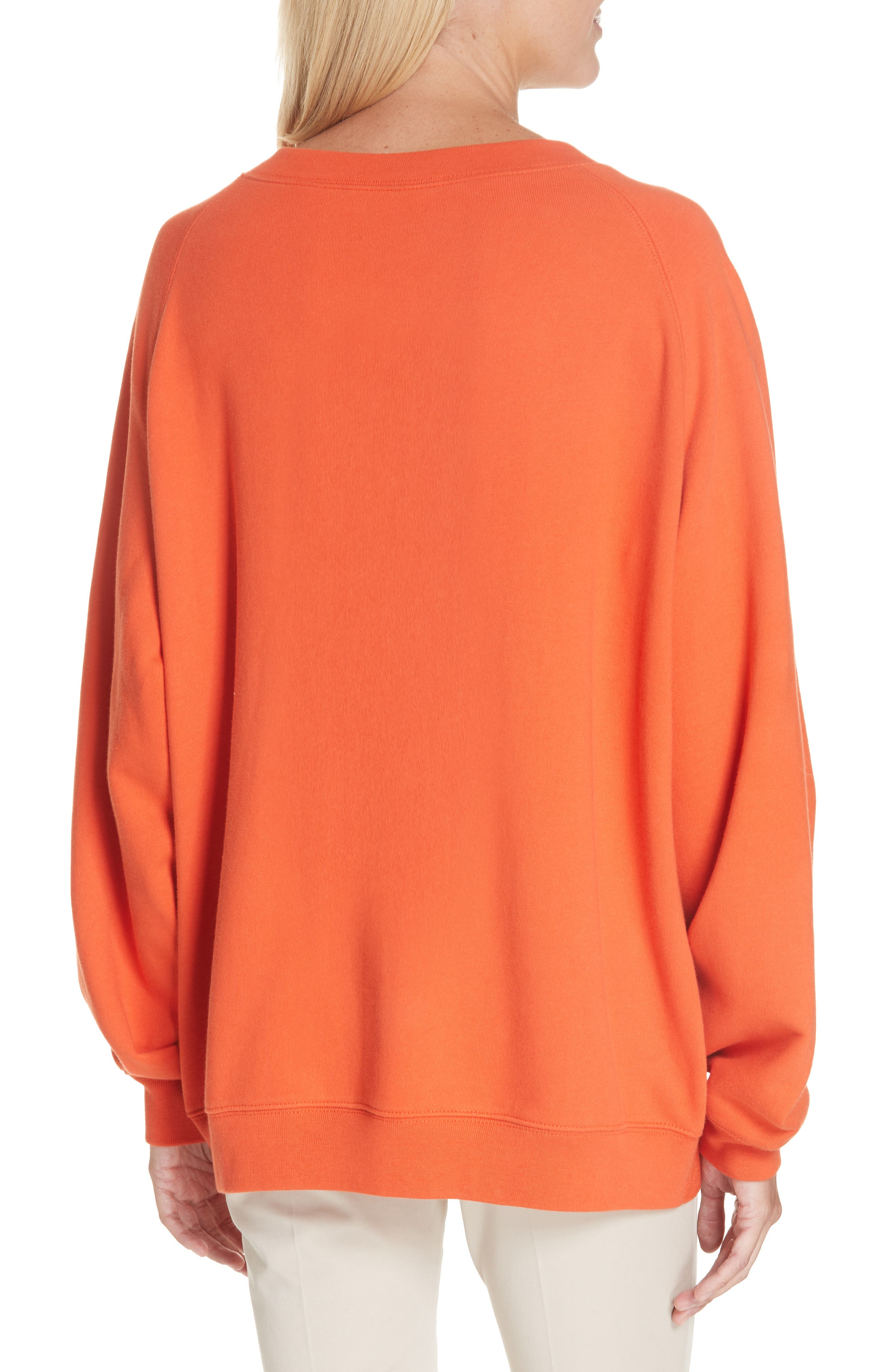 ,                             Sweater Panel Sweatshirt,                             Alternate thumbnail 2, color,                             MAGMA