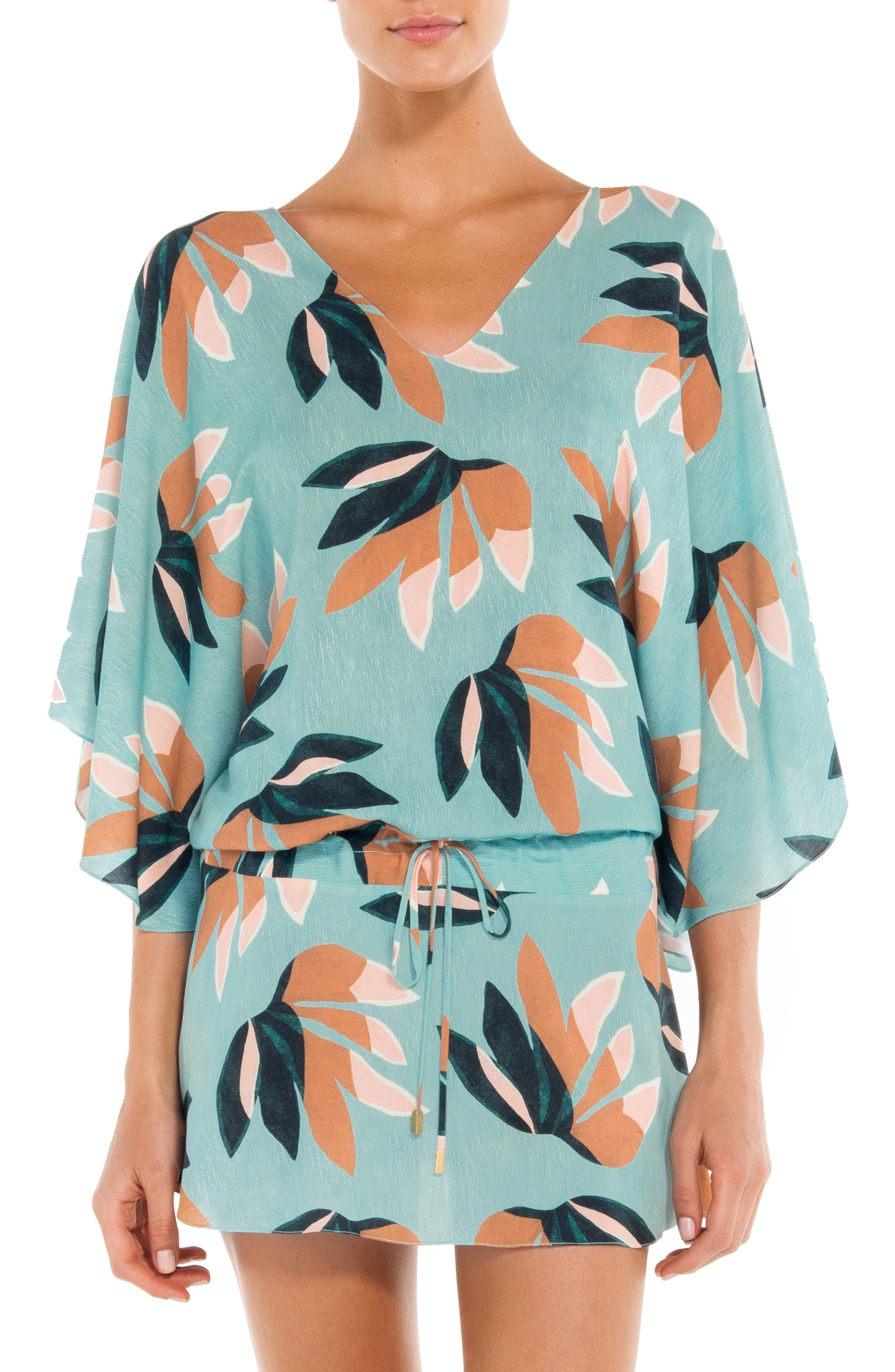 Vix Swimwear Matisse Vintage Cover-Up Tunic, Blue