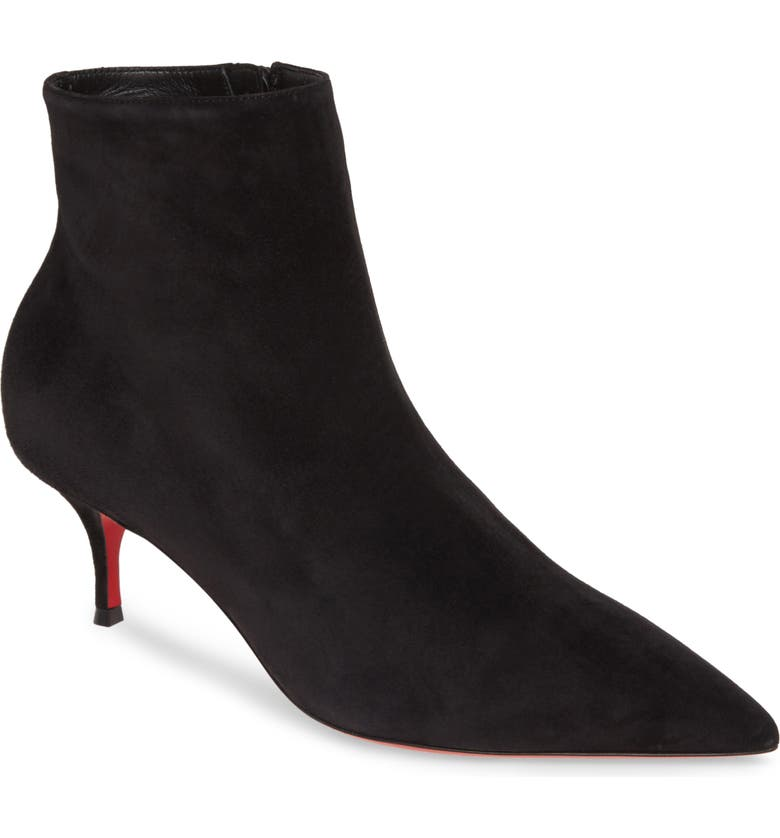 CHRISTIAN LOUBOUTIN So Kate Pointed Toe Bootie, Main, color, BLACK
