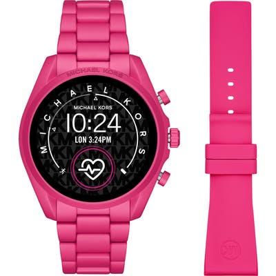 Michael Kors Access Bradshaw Ii Bracelet Smart Watch, 4m & Silicone Strap Set