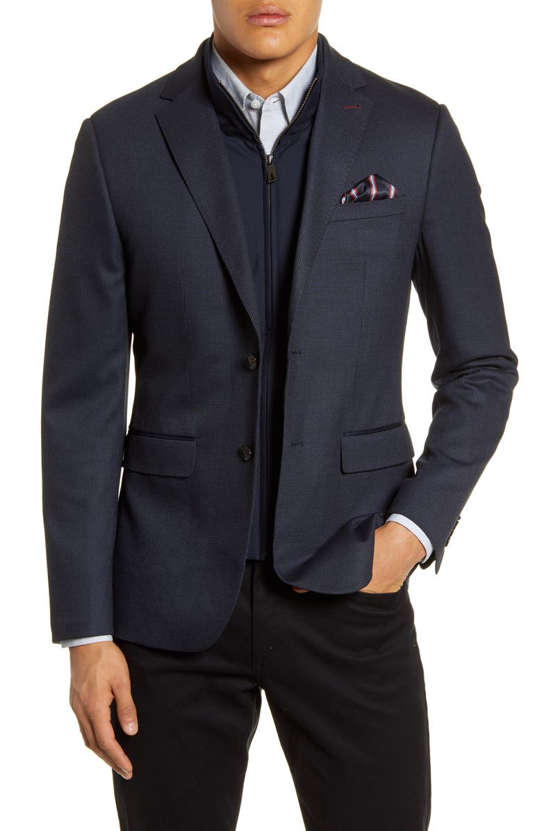 TED BAKER LONDON Rhino Slim Fit Sport Coat with Insert, Main, color, NAVY