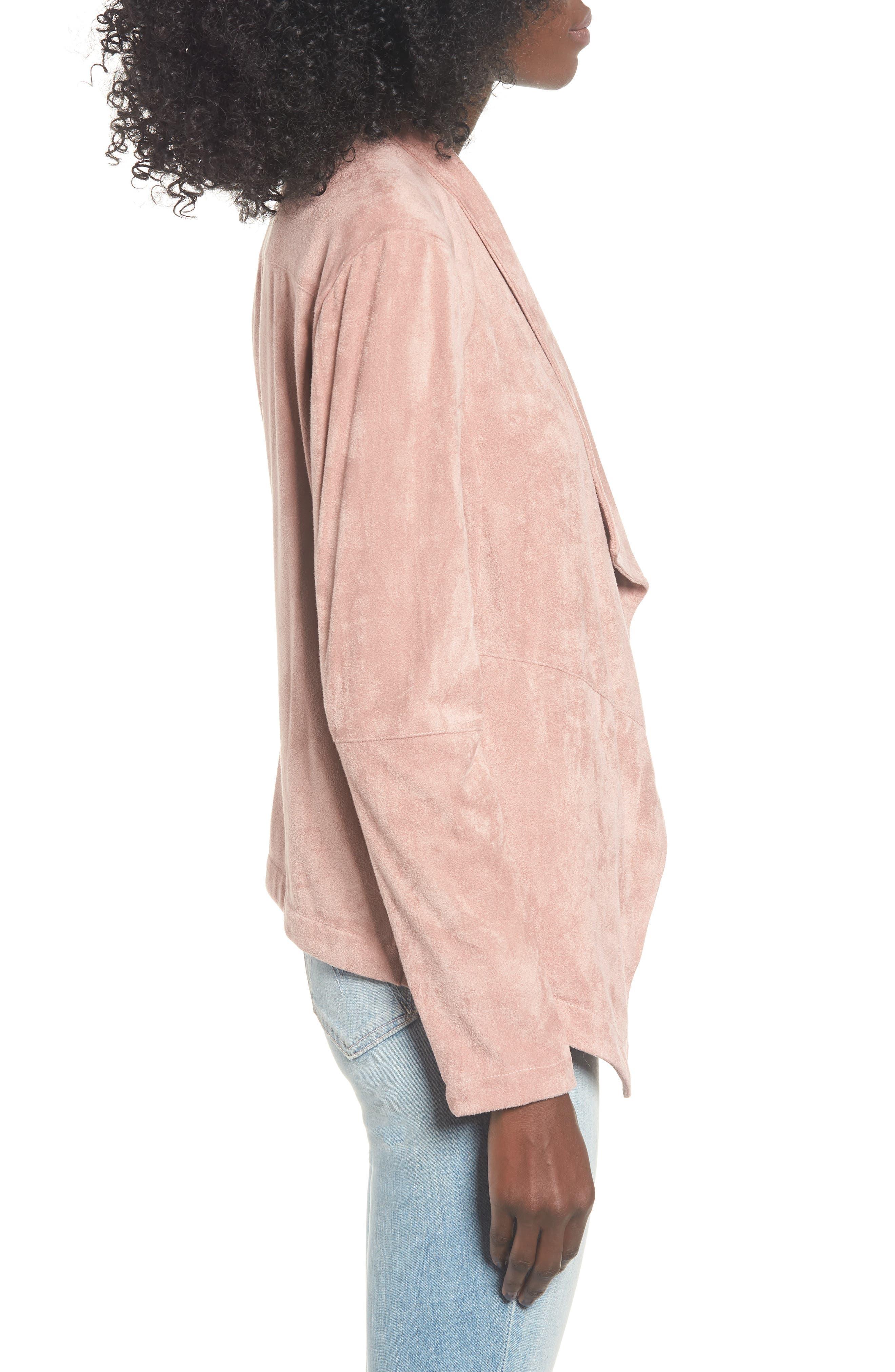 ,                             Nicholson Faux Suede Drape Front Jacket,                             Alternate thumbnail 54, color,                             651