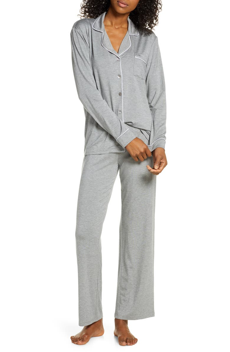 UGG<SUP>®</SUP> Lenon Jersey Pajamas, Main, color, GREY HEATHER