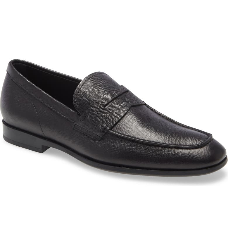 TOD'S Mocassino Penny Loafer, Main, color, BLACK/ BLACK