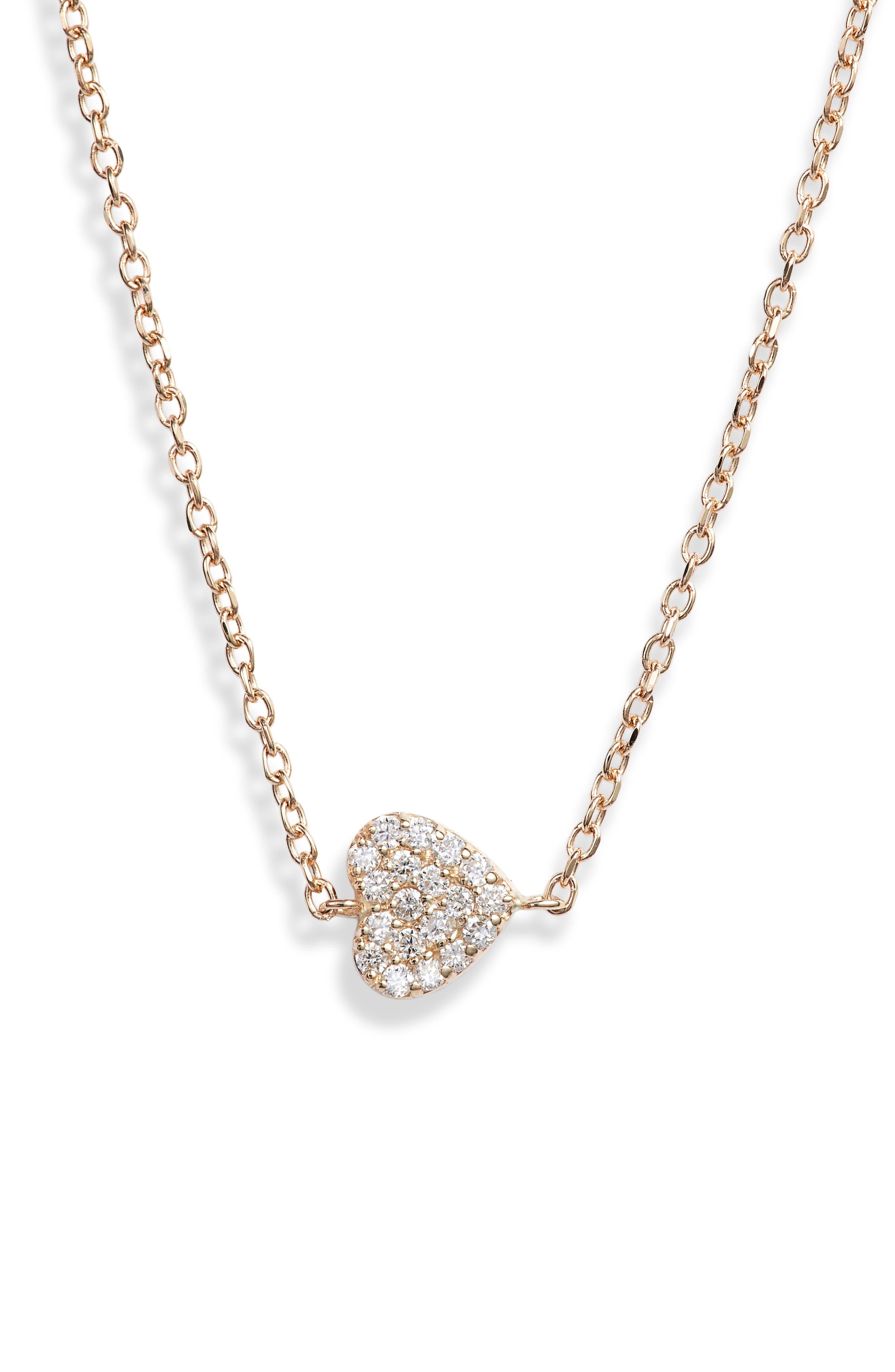 Love Letter Diamond Pave Heart Pendant Necklace