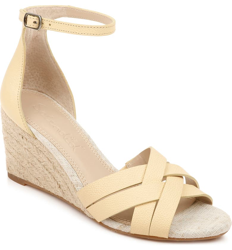 SPLENDID Maddy Espadrille Wedge Sandal, Main, color, LIMONCELLO LEATHER