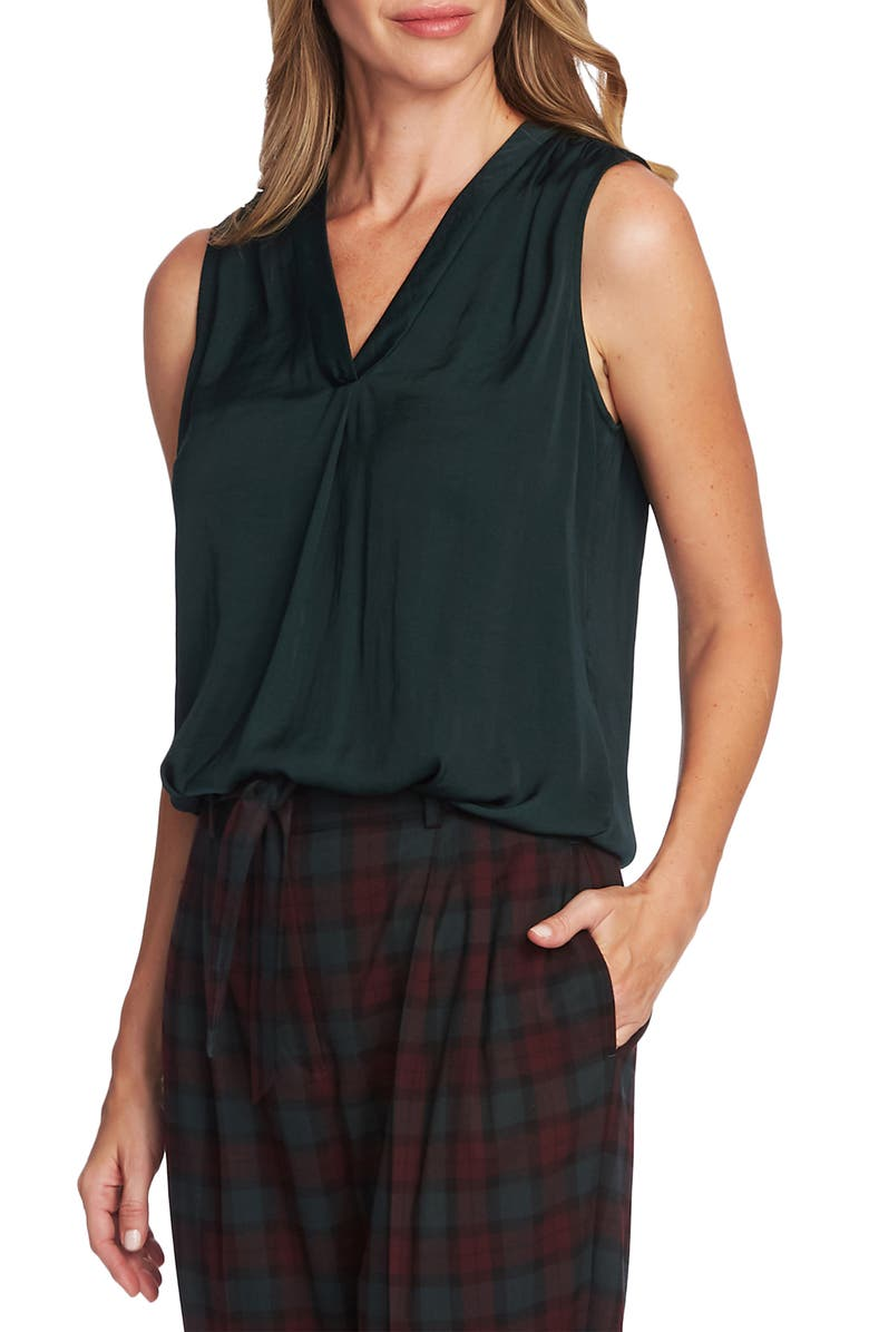 VINCE CAMUTO Rumpled Satin Blouse, Main, color, 308