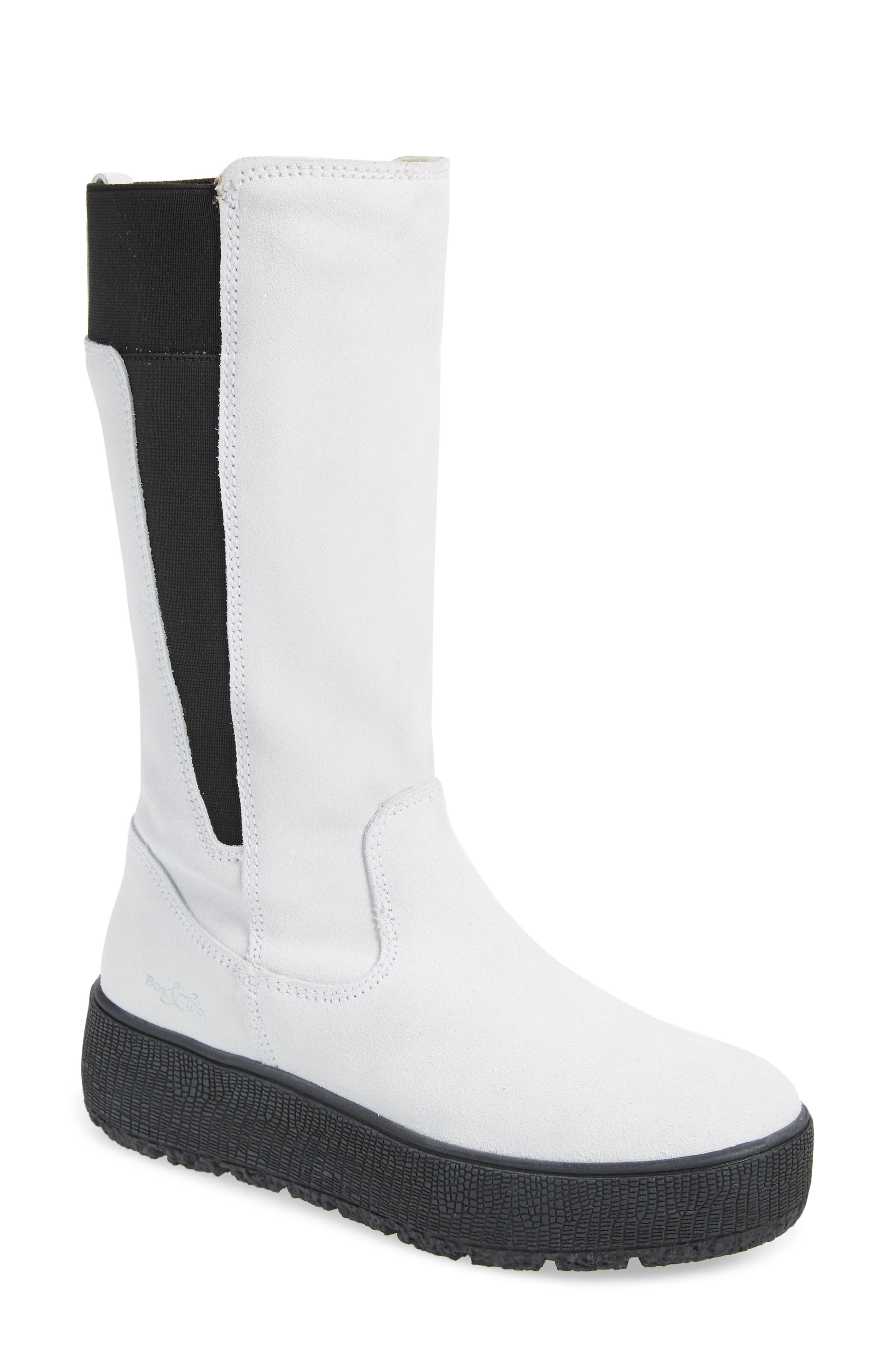 Merino wool lining adds soft, cozy comfort to a mid-calf boot that\\\'s ready to take on the elements thanks to a waterproof finish. Style Name: Bos. & Co. Impact Waterproof Boot (Women). Style Number: 6086152. Available in stores.