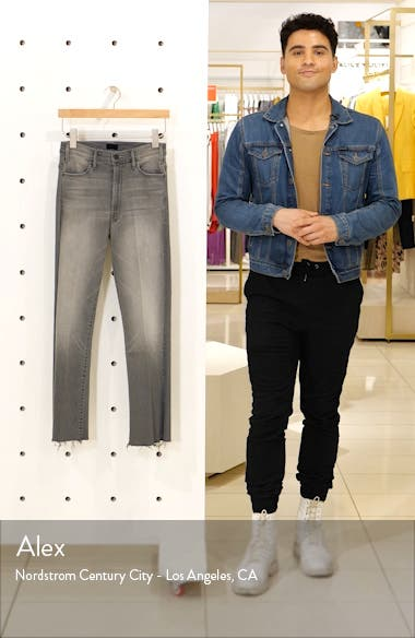 The Hustler High Waist Frayed Ankle Jeans, sales video thumbnail