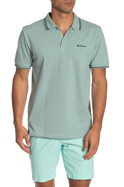 Image of Ben Sherman Short Sleeve Knit Polo Shirt