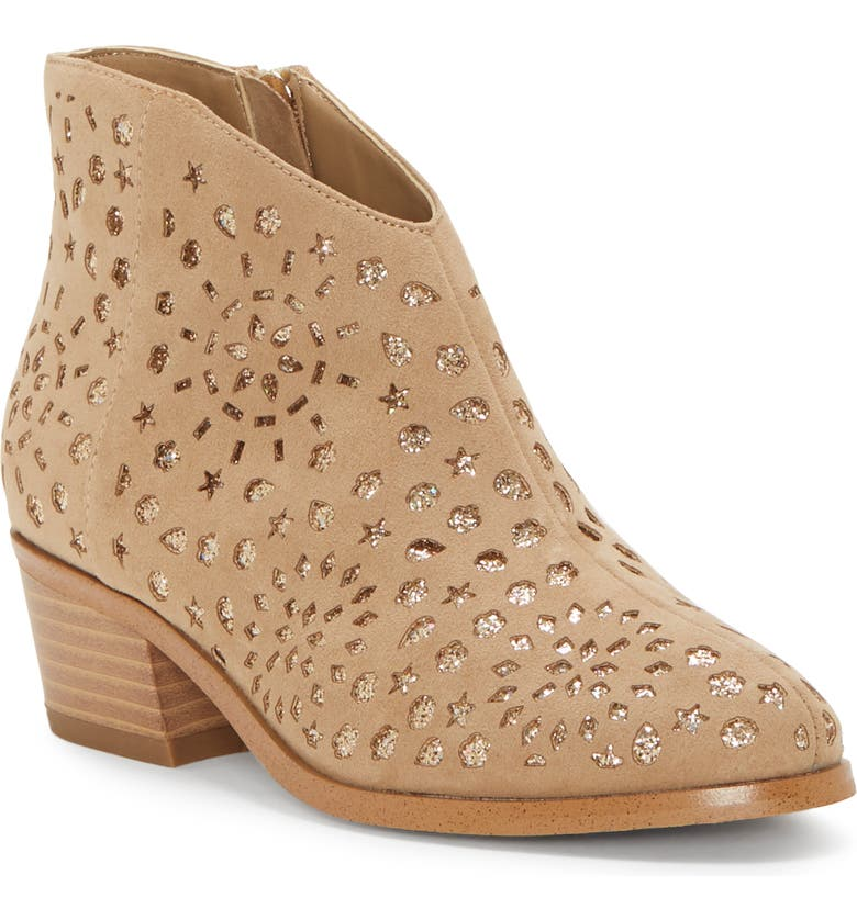 VINCE CAMUTO Perforated Glitter Boot, Main, color, 718