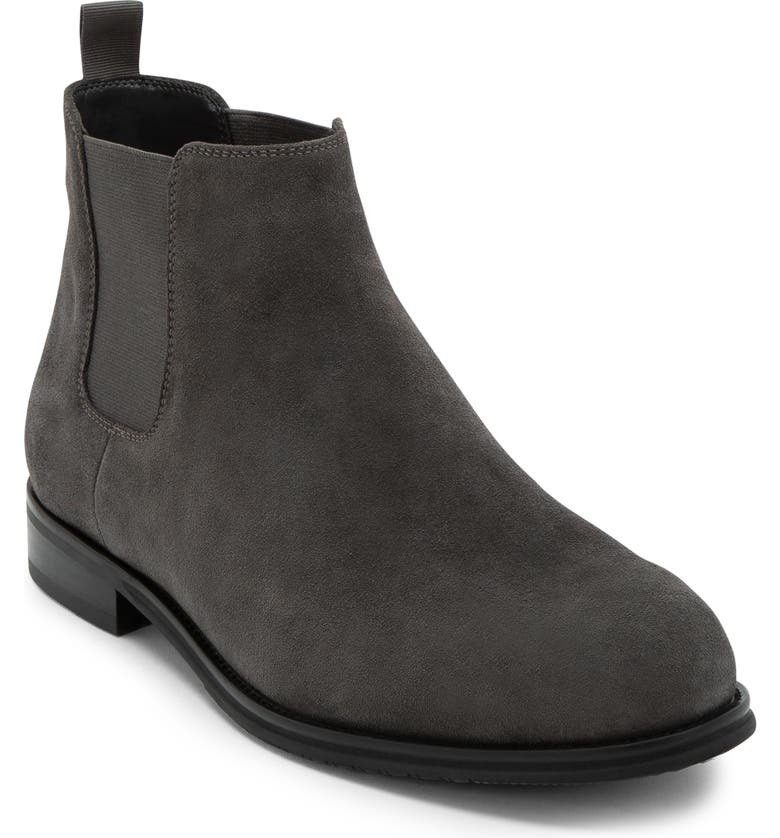 BLONDO Kevin Waterproof Chelsea Boot, Main, color, GREY SUEDE