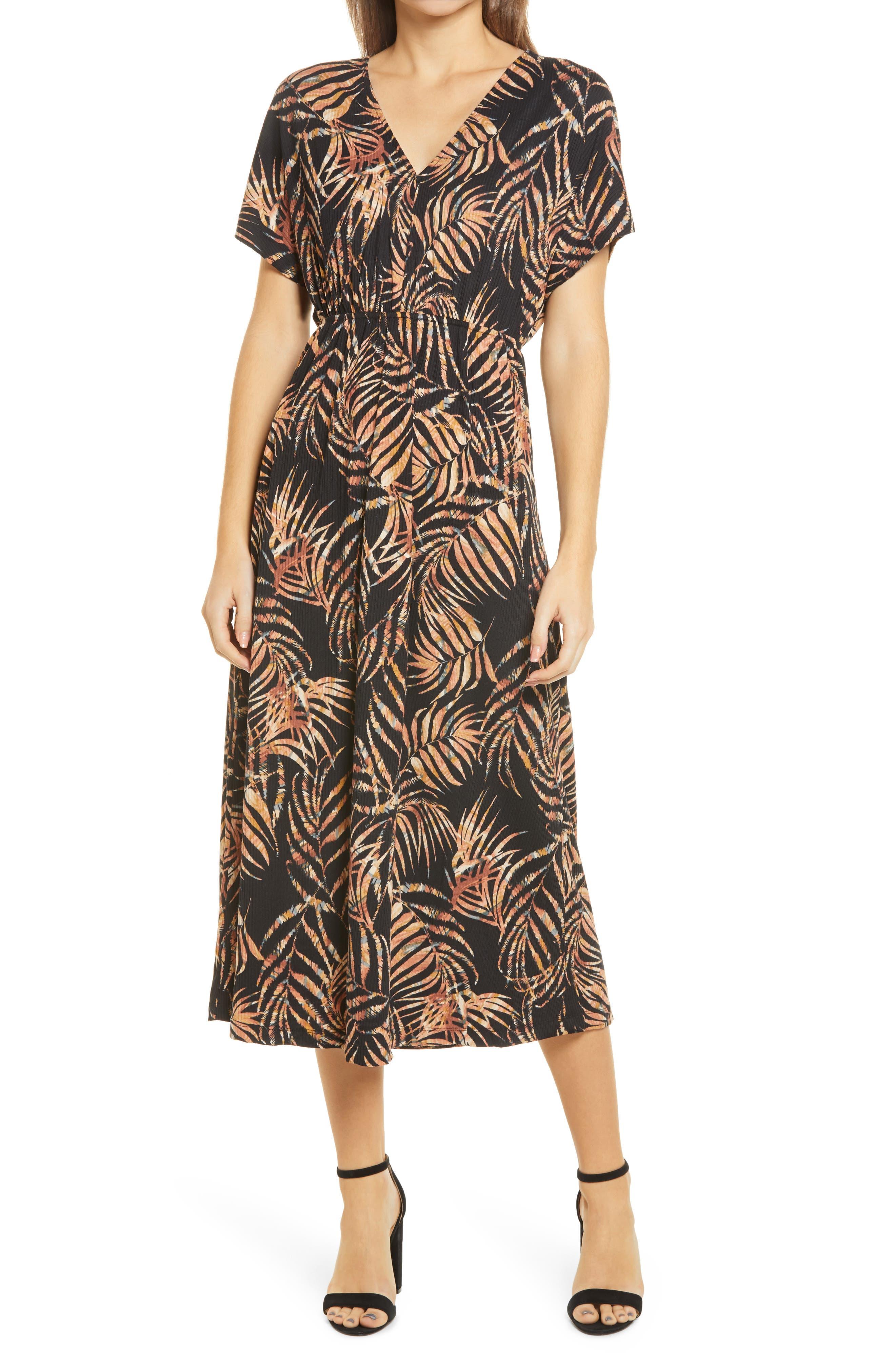 Tropical Stretch Knit Dress