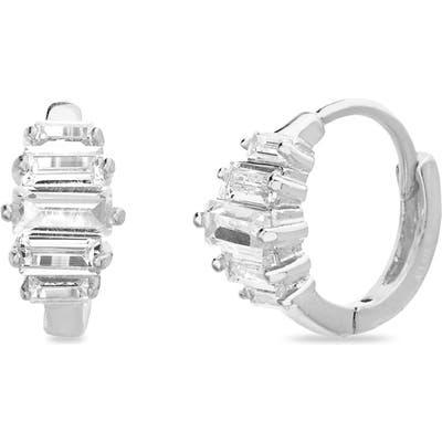 Lesa Michele Cubic Zirconia Huggie Earrings
