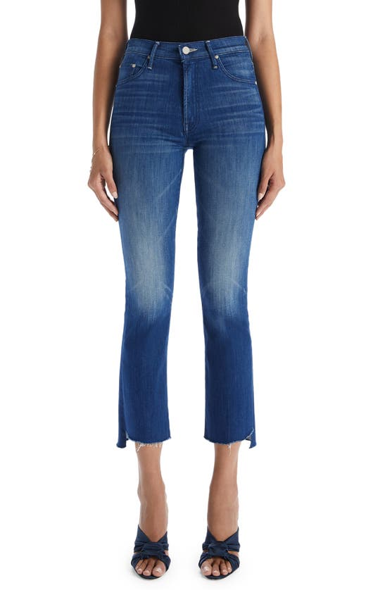 Mother The Insider Frayed Step Hem Crop Jeans In Second Thyme Around