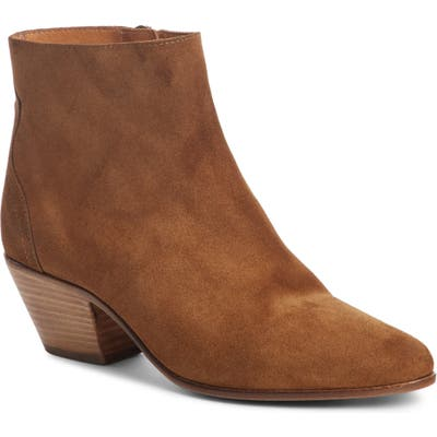 Isabel Marant Dacken Stacked Heel Bootie, Brown