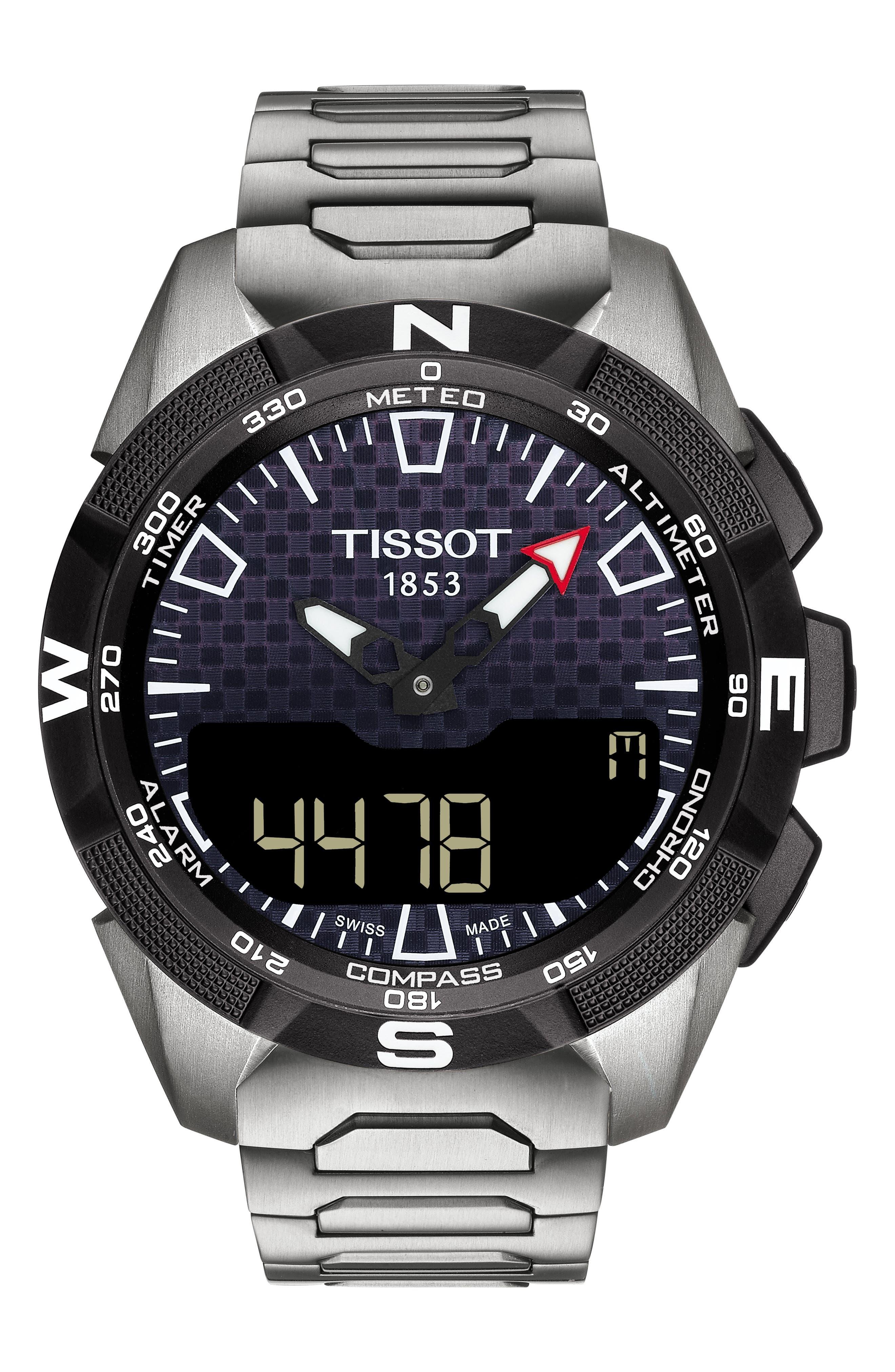 Image of Tissot Men's T-Tech Expert Solar II Bracelet Watch, 45mm