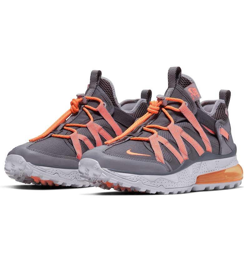 NIKE Air Max 270 Bowfin Sneaker, Main, color, THUNDER GREY/ GUNSMOKE/ ORANGE
