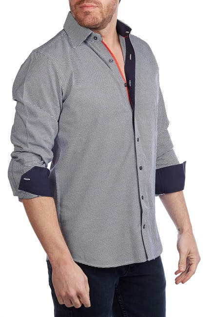 Image of Levinas Printed Tailored Fit Shirt