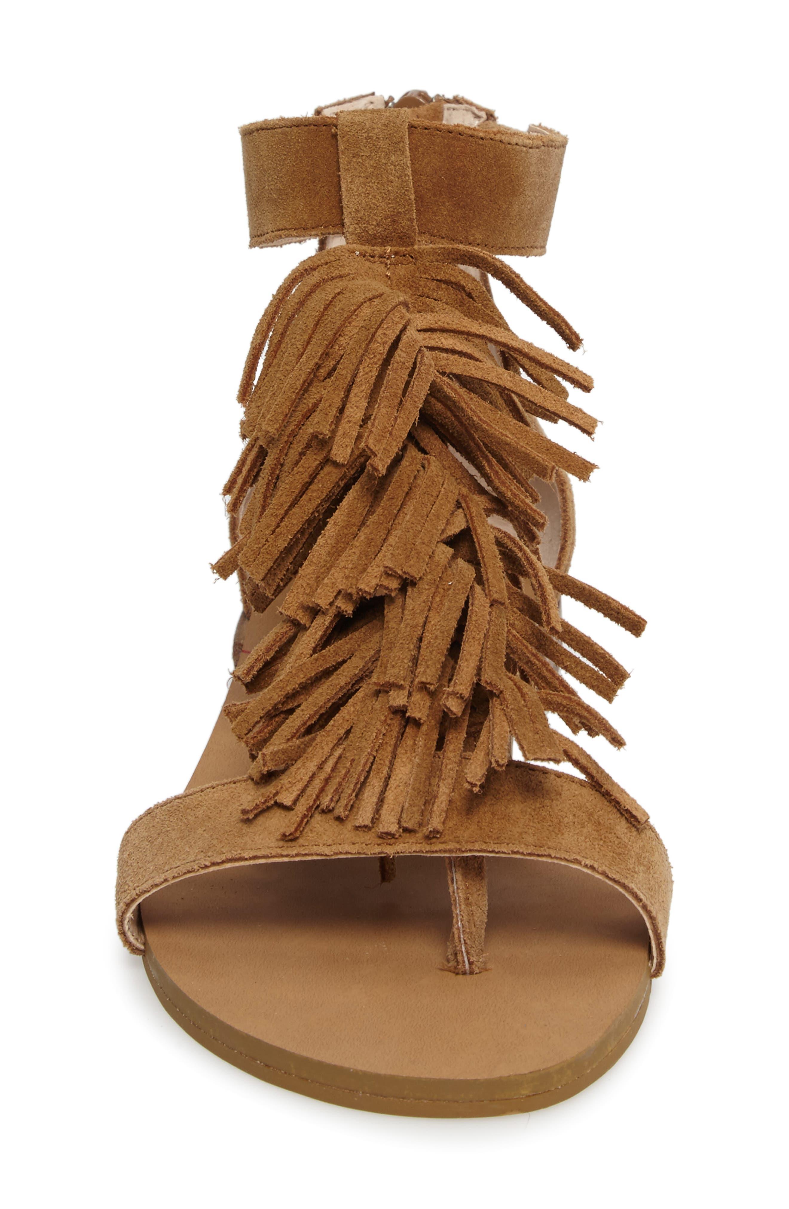 ,                             Koa Fringed T-Strap Sandal,                             Alternate thumbnail 10, color,                             240