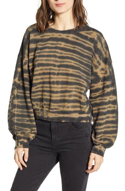 Agolde T-shirts BALLOON SLEEVE TIE DYE COTTON SWEATSHIRT