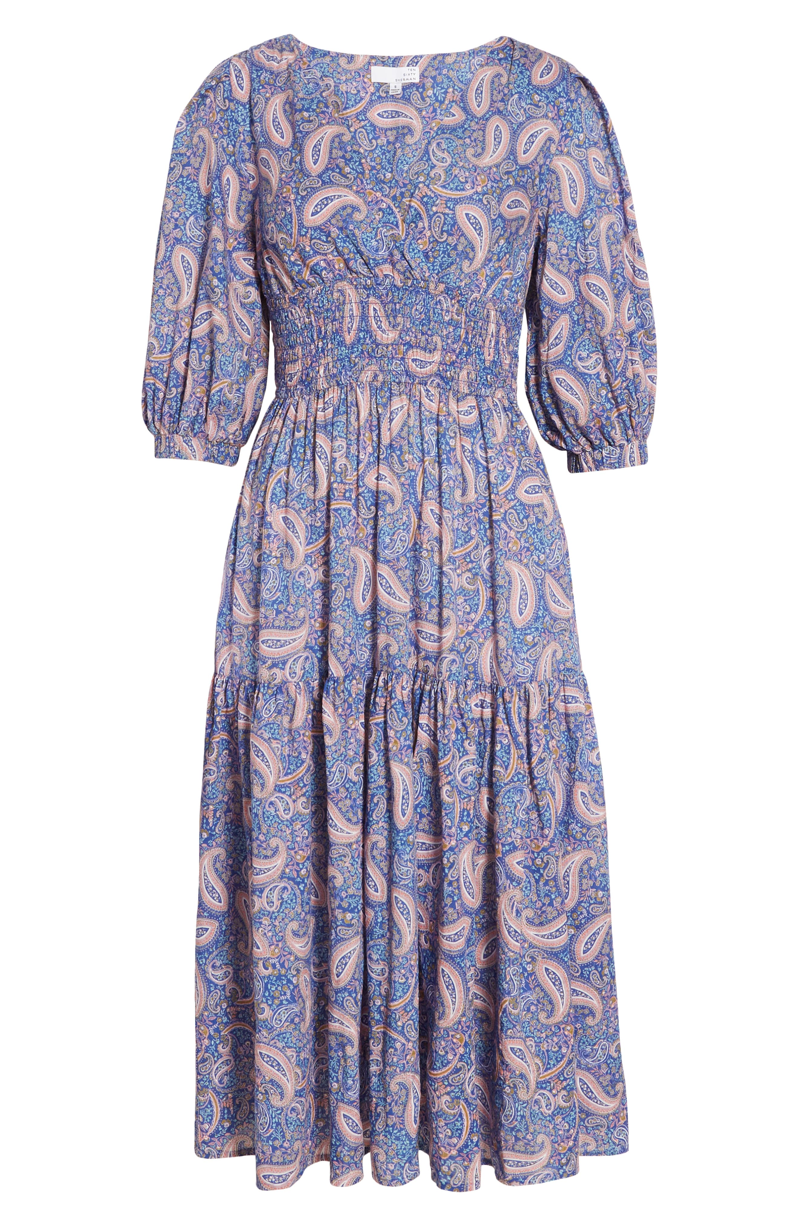 70s Outfits – 70s Style Ideas for Women Womens Ten Sixty Sherman Paisley Print Ruffle Dress $49.00 AT vintagedancer.com