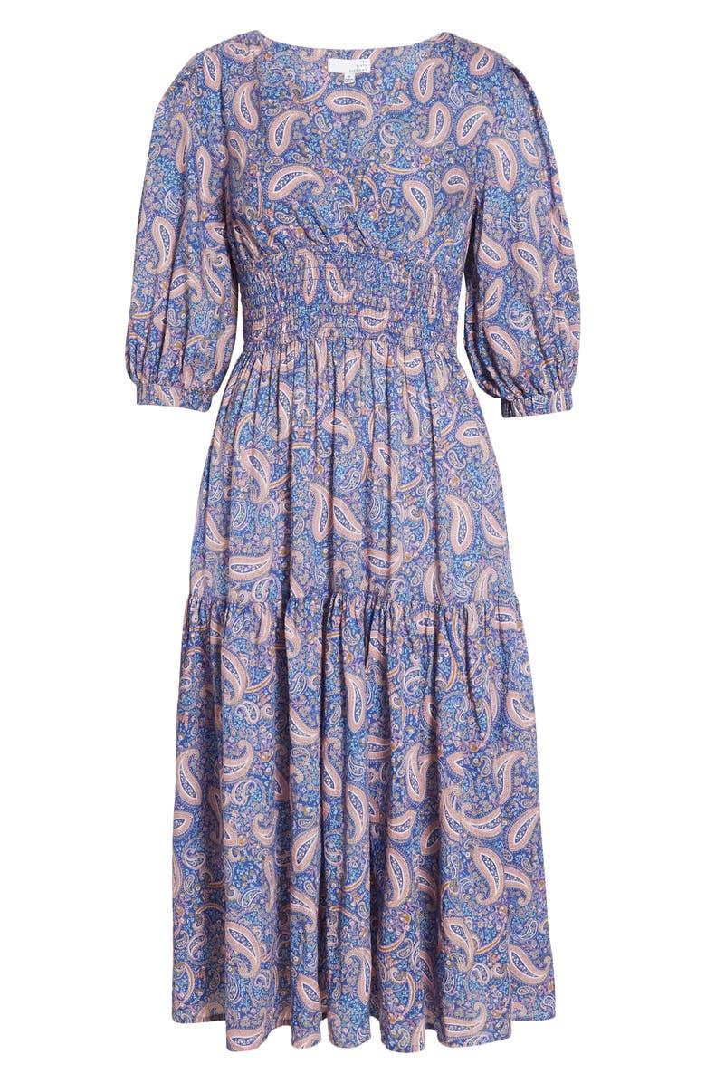 TEN SIXTY SHERMAN Paisley Print Ruffle Dress, Main, color, PAISLEY PRINT