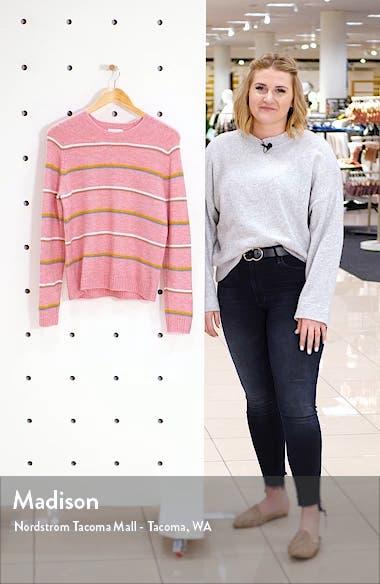 Multistripe Crewneck Sweater, sales video thumbnail