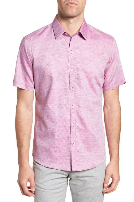 Image of Zachary Prell Wilcox Short Sleeve Slim Fit Shirt