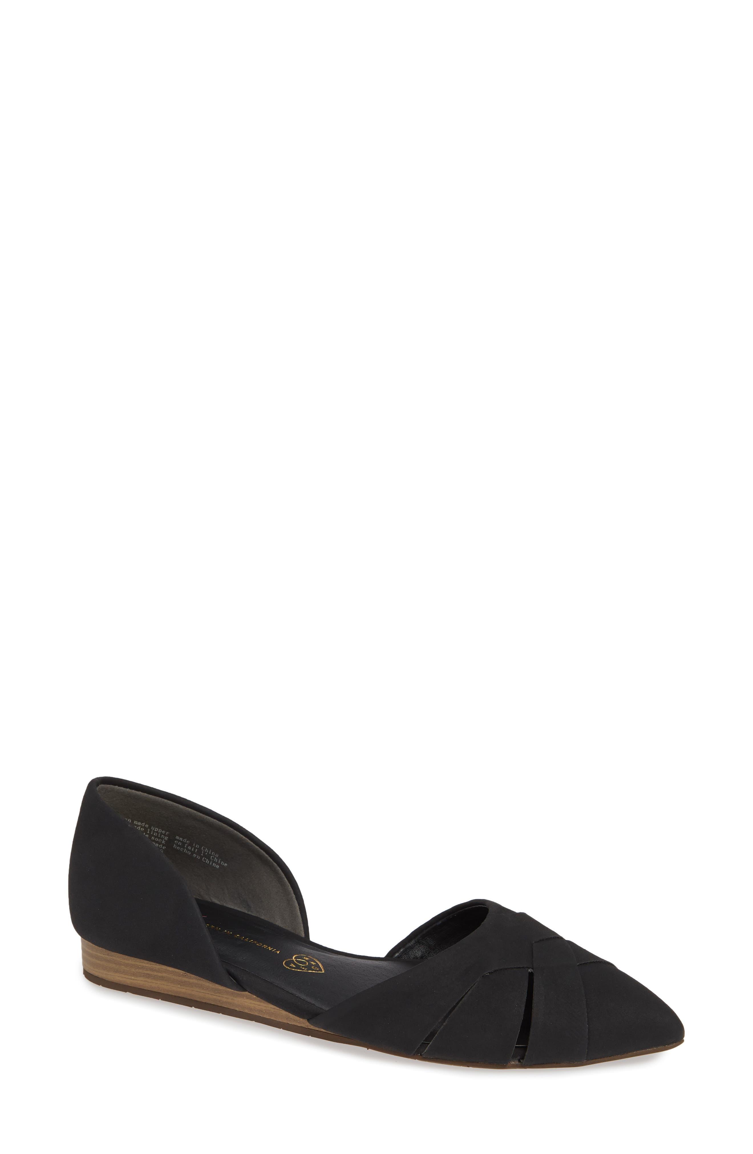 Bc Footwear Focal Point Vegan Pointy Toe Flat, Black