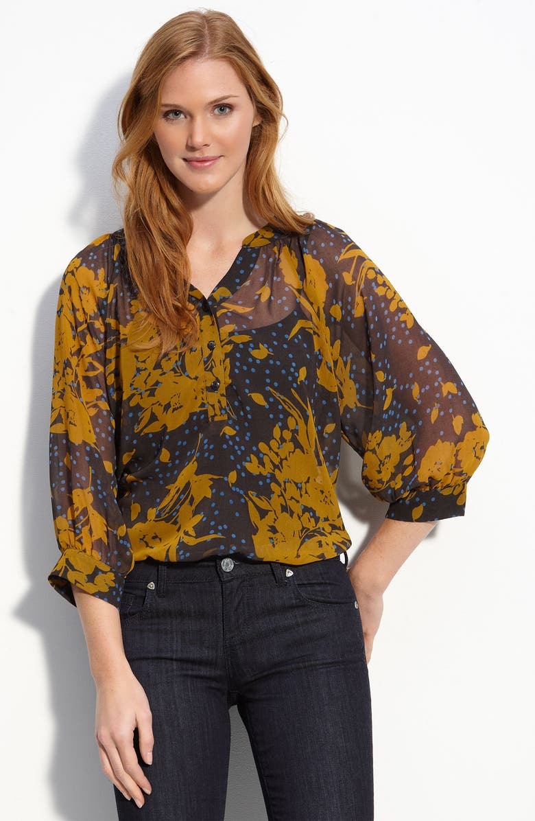 OLIVIA MOON Print Chiffon Blouse, Main, color, 403