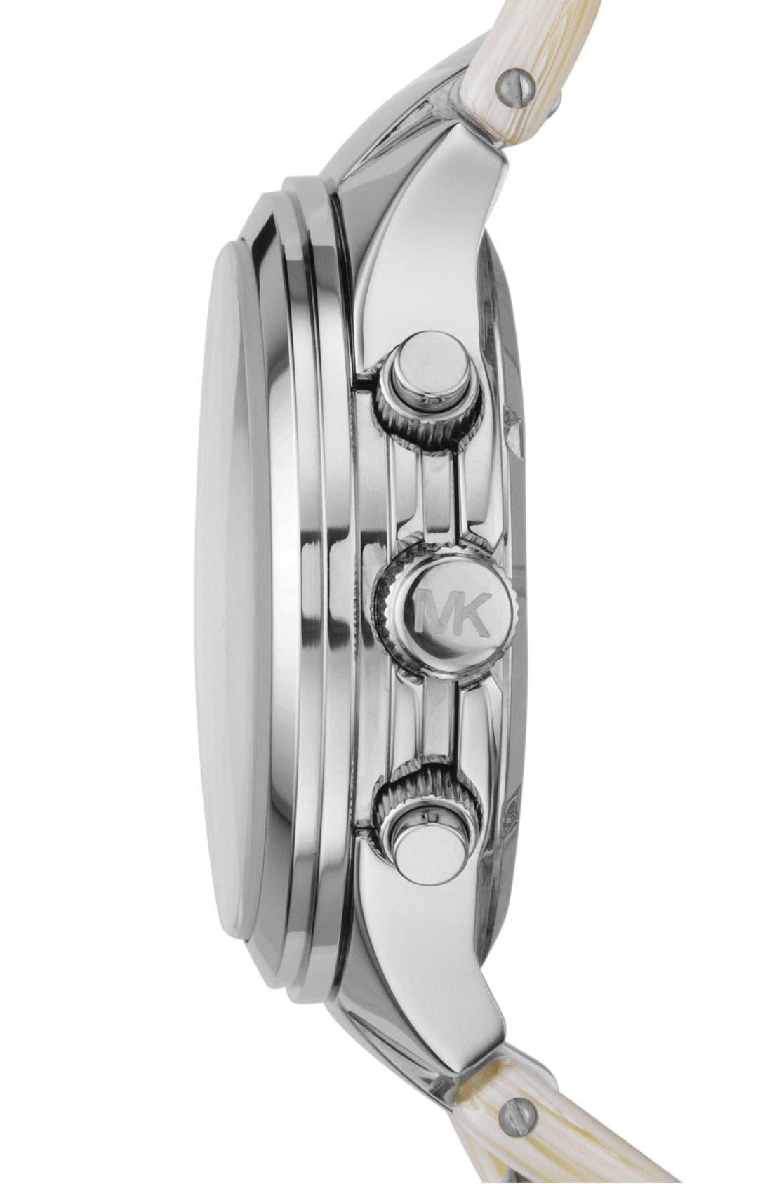 ,                             Michael Kors Chain Bracelet Chronograph Watch, 38mm,                             Alternate thumbnail 6, color,                             041