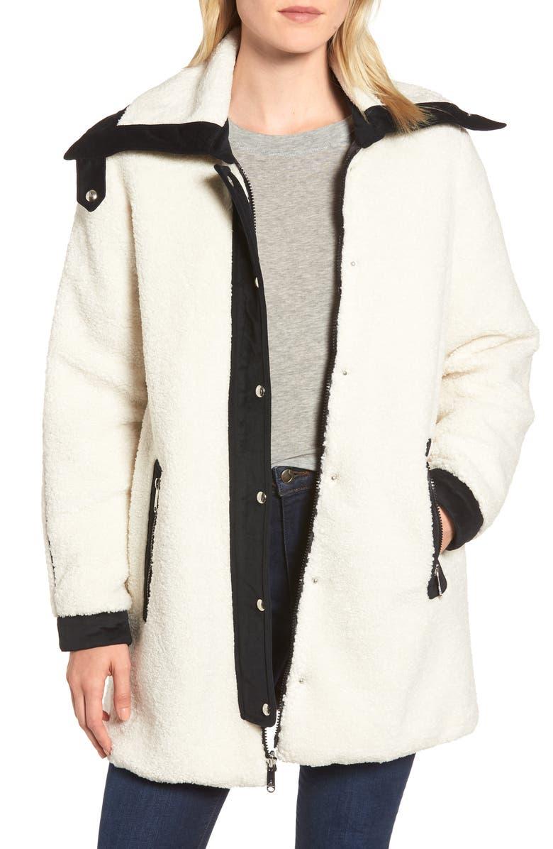 SAM EDELMAN Berber Reversible Coat, Main, color, 900