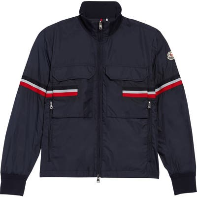 Moncler Seine Stripe Nylon Jacket, Blue