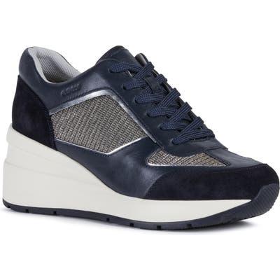 Geox Zosma Wedge Sneaker, Blue