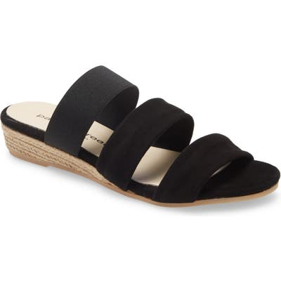Patricia Green Joanna Wedge Sandal, Black
