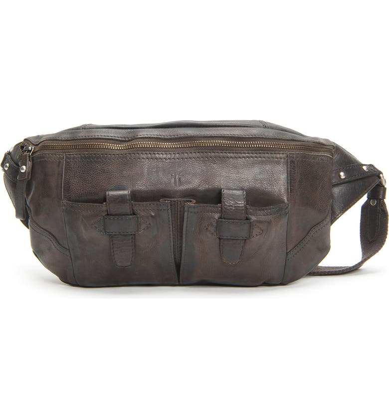 FRYE Murray Leather Sling Pack, Main, color, 099