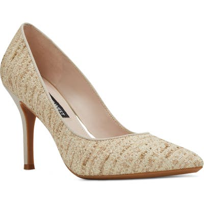 Nine West Fifth Pointy Toe Pump, Beige