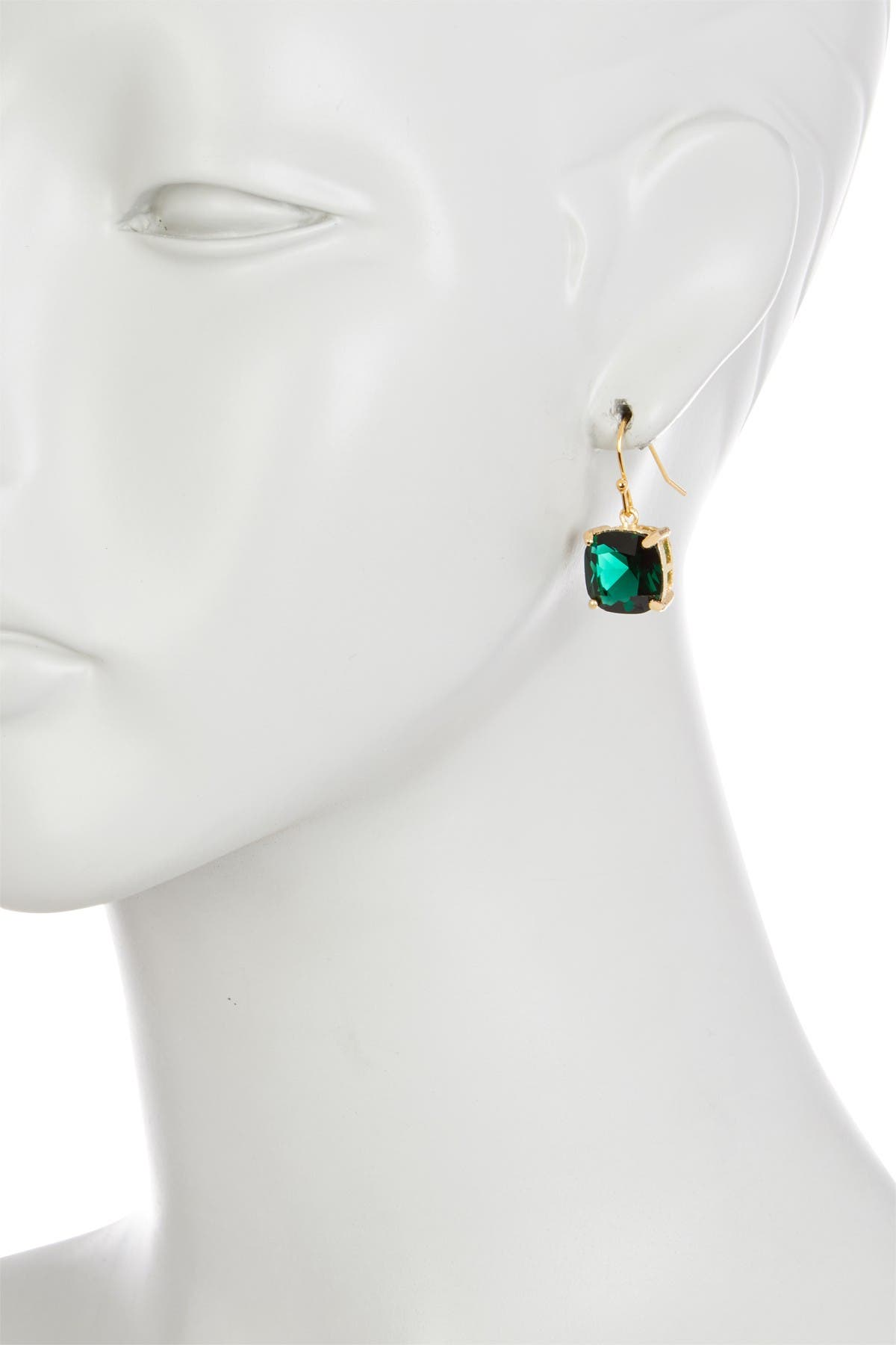 Image of Rivka Friedman 18K Gold Plated Emerald Crystal Drop Earrings