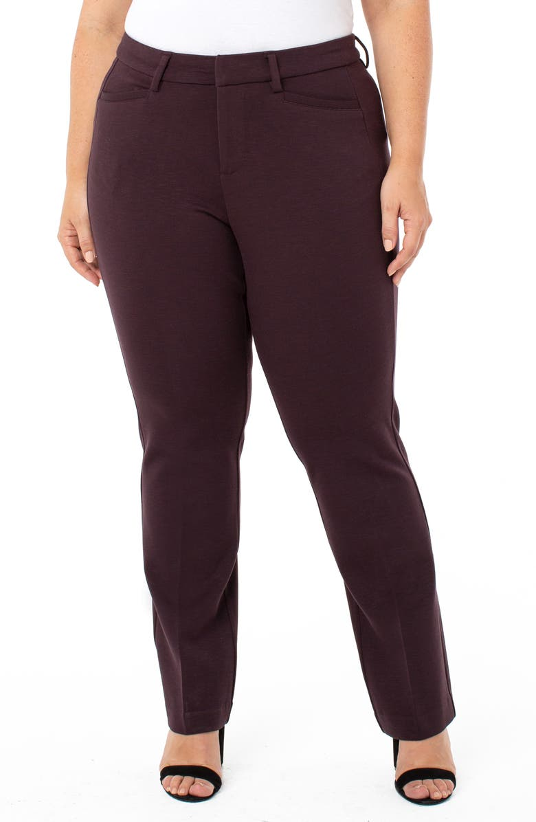 LIVERPOOL Bootcut Trousers, Main, color, CURRANT